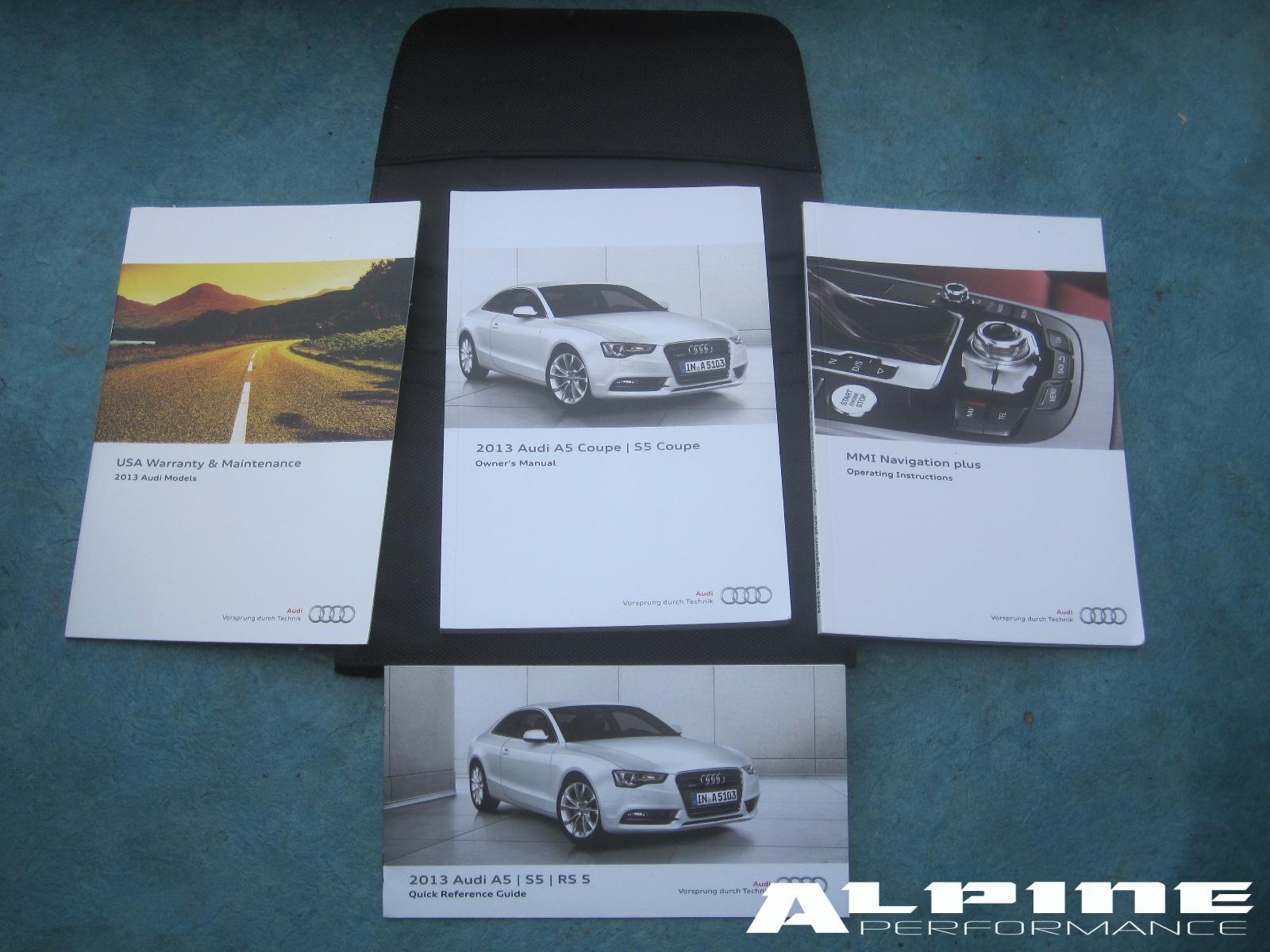origianal audi a5 s5 coupe owners manual set books case manuals mmi rh alpinediscountparts com audi mmi manual 2017 manuel mmi audi a4