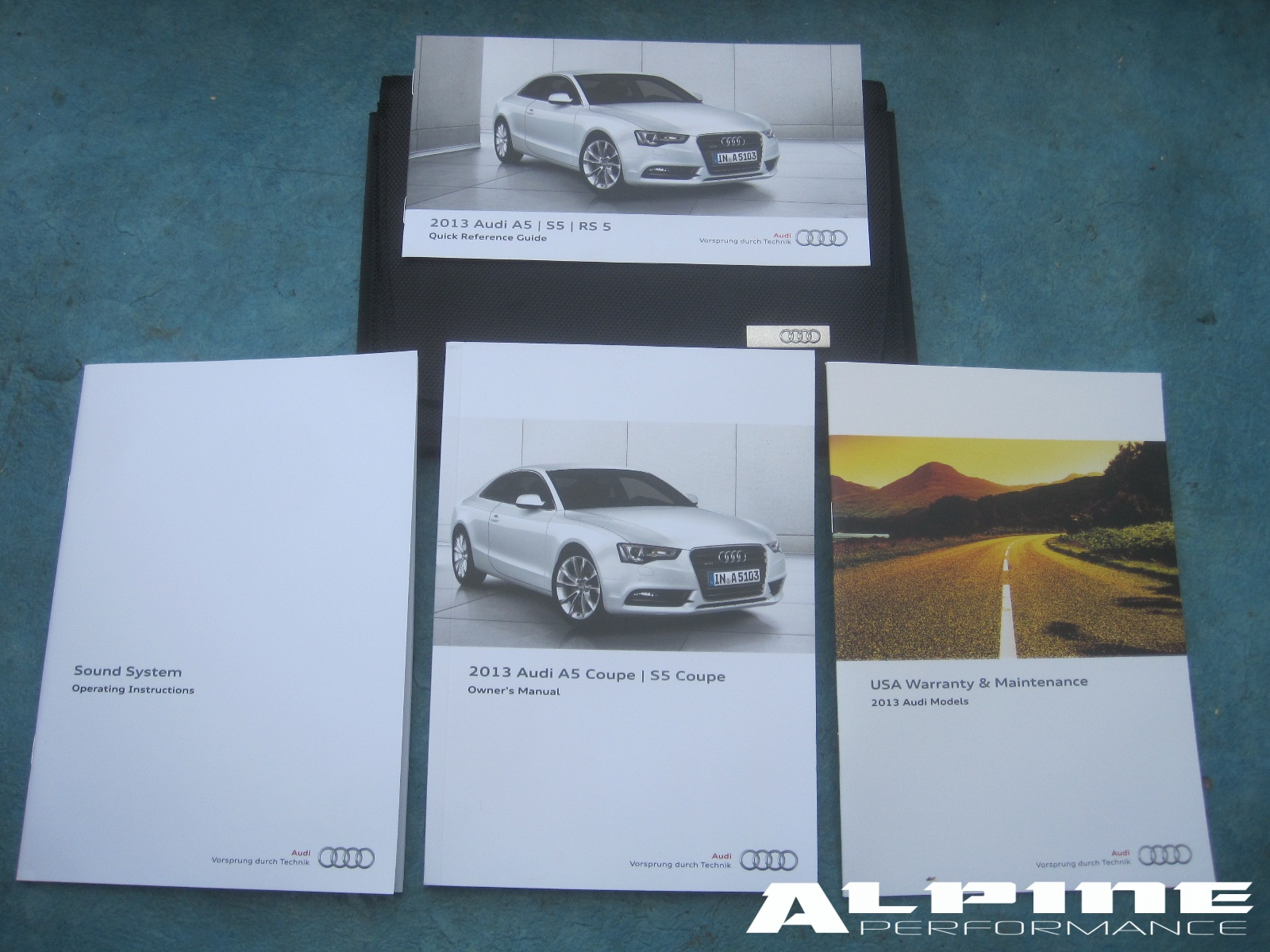 origianal audi a5 s5 coupe w out nav owners manual set books case rh alpinediscountparts com