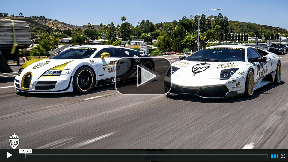 Supercars on Goldrush Rally 7 Bugatti Porsche Pagani ...