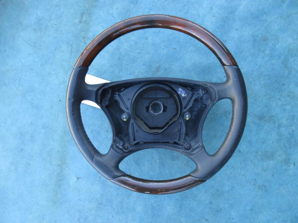 Origianal mercedes benz s class steering wheel with wood for Mercedes benz steering wheel
